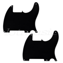 2Pack Black Electric Guitar Pickguard 3-Ply Scratch Plate For Fender Tele Guitar Replacement kmise electric guitar loaded pickguard scratch plate for fender strat parts 3 ply sss black
