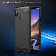 For Xiaomi Mi Max 3 Case Silicone Carbon Fiber Phone Back Cover Xiomi Mi Max 3 Pro Mix 2S 2 Max 3 PocoPhone F1 Coques Shockproof(China)