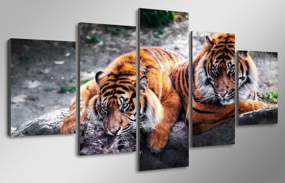 5D Diamond Bordado Tigres imagen 5 UNIDS Multi-imagen 3d DIY - Artes, artesanía y costura