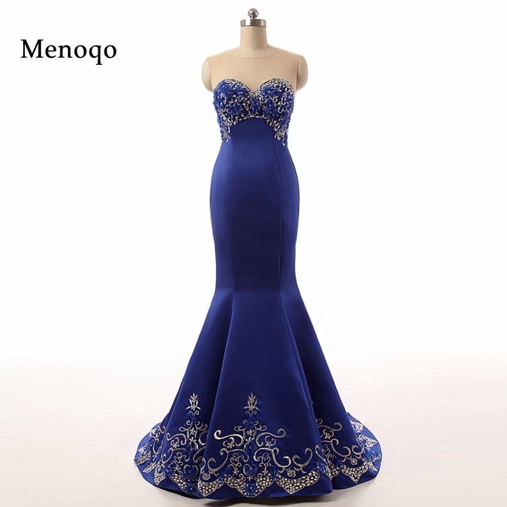 9166712d83 62735 W Haute qualité Sirène Perlée Applique 2018 Élégant femmes bleu  longue real photo robe de soirée