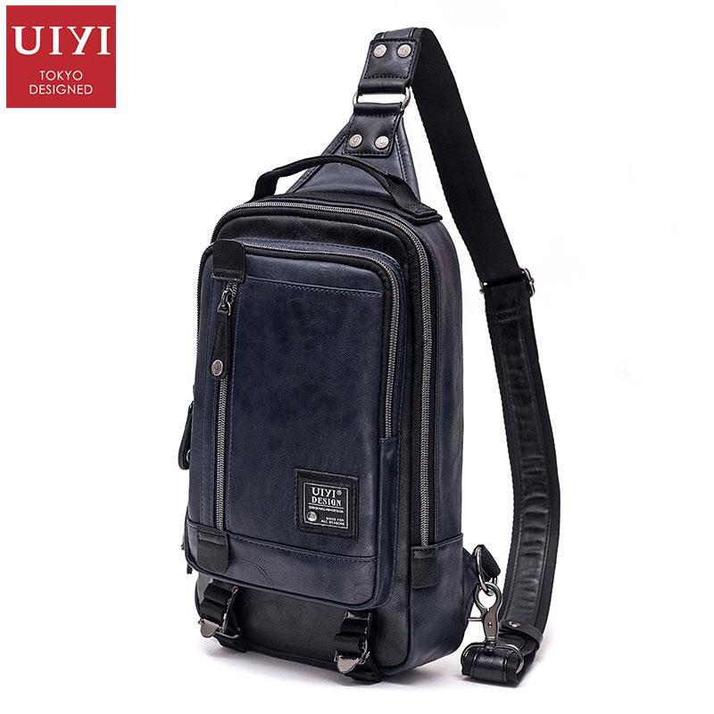 UIYI Fashion Brand Men Messenger Bags Leather Business Shoulder Man Bag Satchel Casual Sling Crossbody Chest Pack Bag 160129 uiyi original design men handbag pu leather satchel messenger crossbody bag small casual business shoulder sling bags 160108