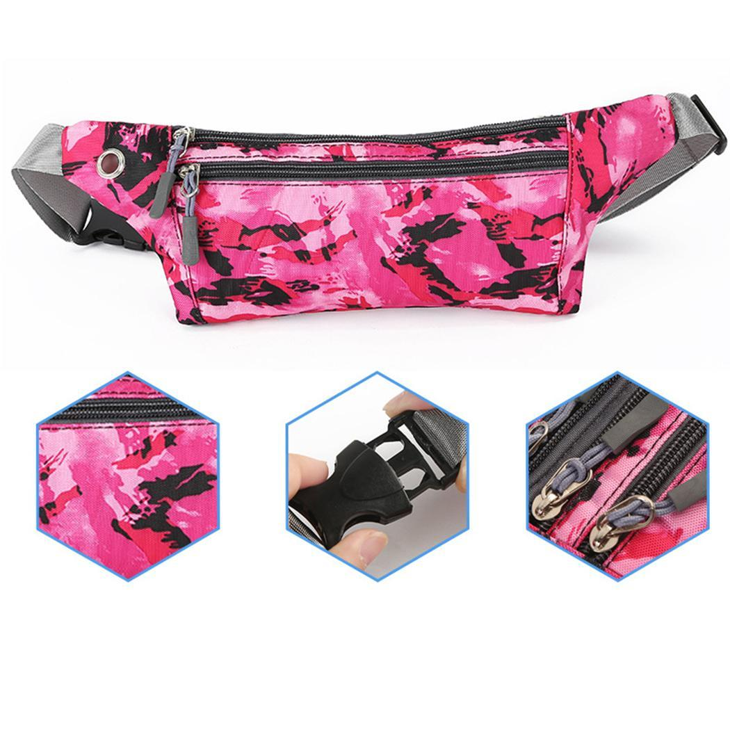 Waist-Print-Bag Outdoor-Bag Running-Pockets Zipper New Unisex Fashion Mountaineering