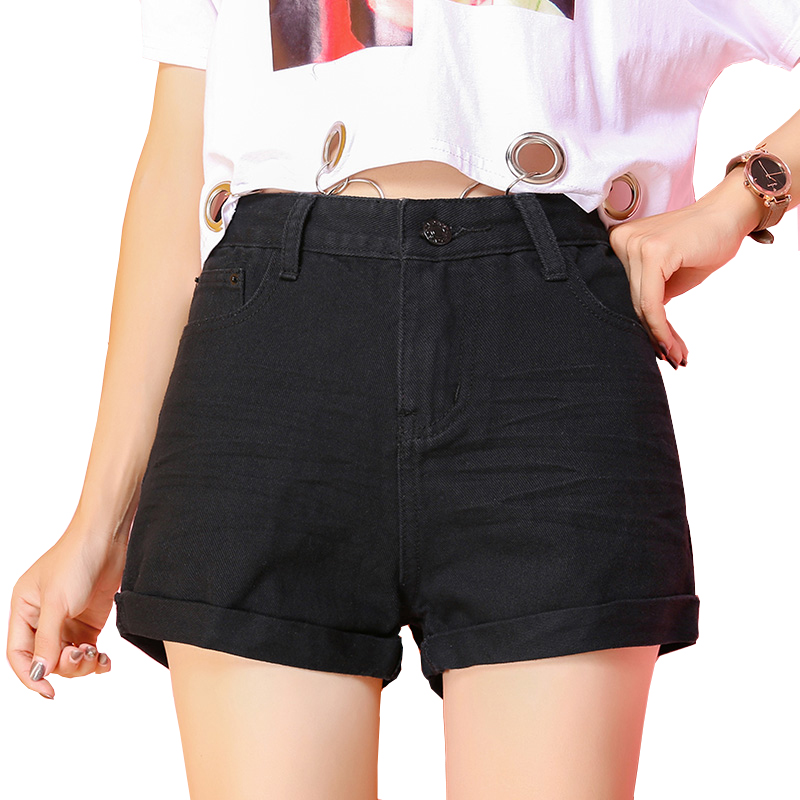 2018 Fashion Casual Women   Shorts   New High Waist Cotton Denim   Short   Pants For Young Lady Summer Wear Girls Trousers Female S-XXL