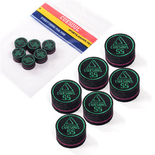 FreeShipping 6pcs/set Cuesoul 14mm 9 Layer SS Baked Pig Leather Billiard Snooker Pool Cue Tip From Accessories Supplies