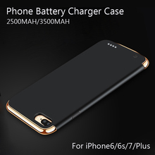 External Battery Portable Charger Power Bank Cover Case for iphone 6/6s/7 Backup Charger Battery case for Iphone 6 6s 7 plus