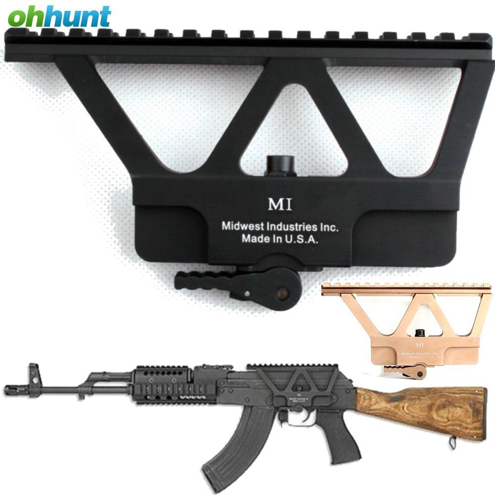 Ohhunt Quick Detach AK Gun Schienen-bereich-einfassung Basis Picatinny Side schiene Montage Für AK 47 AK 74 Jagd Zielfernrohr Zubehör