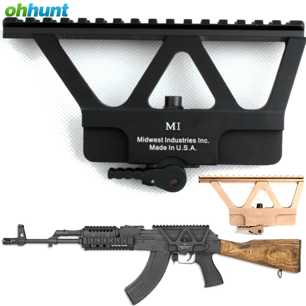 Ohhunt Quick Detach AK Gun Rail Scope Mount Base Picatinny Side Rail Mounting For AK 47 AK 74 Hunting Rifle Scope Accessories