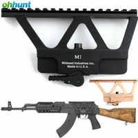 ohhunt Quick Detach AK Gun Rail Scope Mount Base Picatinny Side Rail Mounting For AK 47 AK 74 Hunting Rifle Scope Accessories