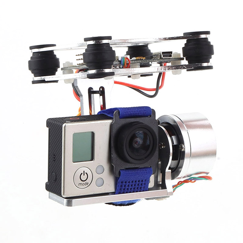 Professional Drone Accesorries Brushless Gimbal Frame+2*Motors+Controller for DJI Phantom Gopro 4 3+ 3 FPV 6A30 Drop Shipping professional drone accesorries brushless gimbal frame 2 motors controller for dji phantom gopro 4 3 3 fpv 6a30 drop shipping