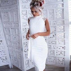 Slim lato koronki szwy sukienka bez rękawów księżniczka sukienka z paskiem płaszcza Sexy Bodycon sukienki formalne elegancka sukienka * 30 3