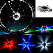 2016 New Bicycle Cycling Hubs Light Bike Front/Tail Light Led Spoke Wheel Warning Light Waterproof Bike Accessories