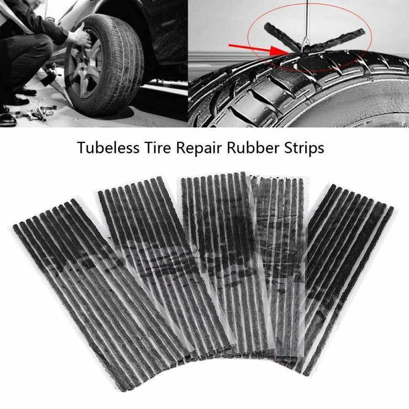 20PCS Tubeless Seal Strip Plug Bike Car Tyre Repair Recovery Tools For Tire Puncture Tubeless Tires No Need for Glue