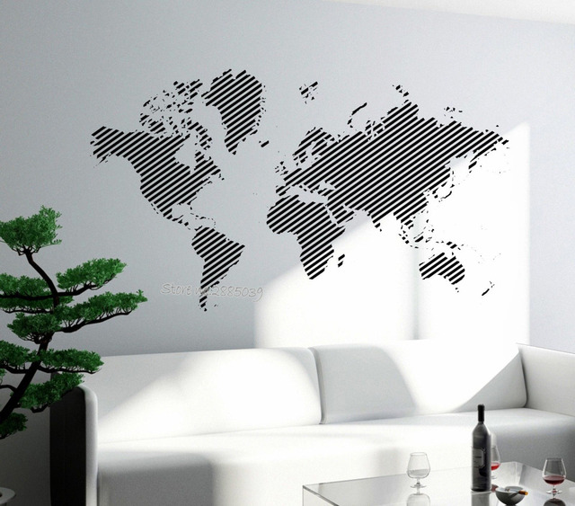 Newest design wall decal world map removable vinyl sticker for newest design wall decal world map removable vinyl sticker for living room bedroom wall tattoo art gumiabroncs Choice Image