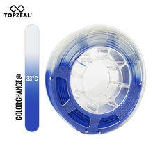 TOPZEAL 3D Printer PLA Temperature Change Color Filament, Dimensional Accuracy +/- 0.05 , 1KG Spool, 1.75mm , Blue To White цена
