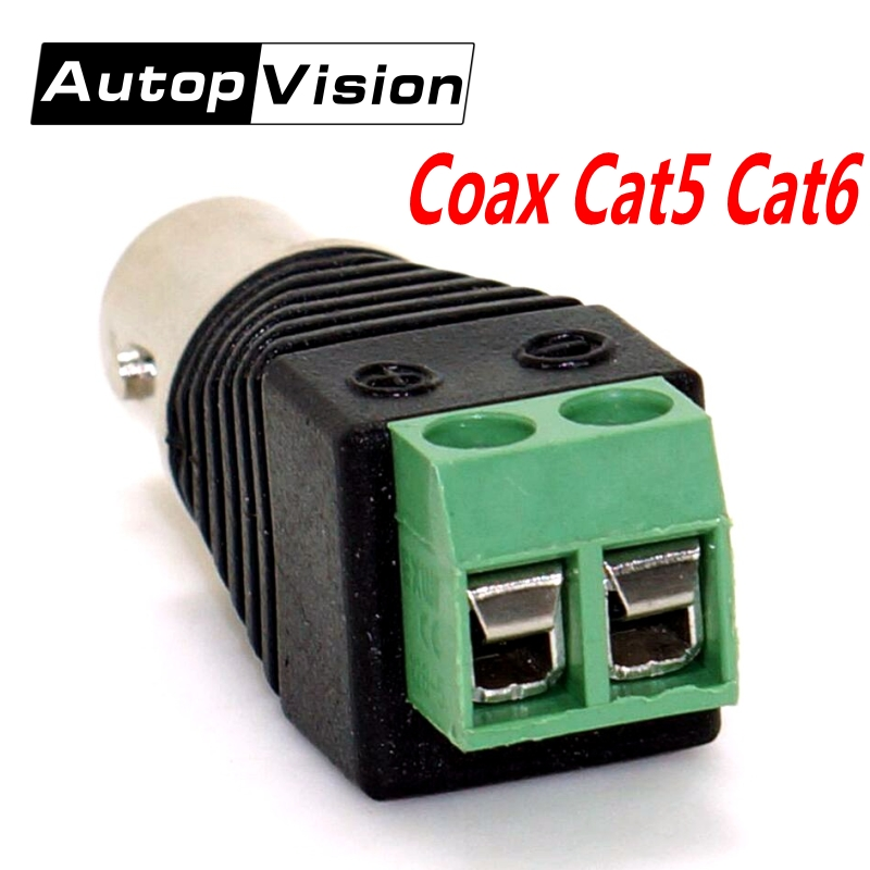 Freeshipping 10pcs BNC Connectors Coax Cat5 Cat6 BNC Female CCTV Connector BNC Female Jack Video Balun Camera Connectors