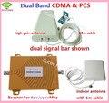 CONJUNTO completo de REFORÇO! alto ganho de banda Dupla CDMA, PCS CDMA 850 PCS 1900 sinal de reforço de sinal GSM repetidor amplificador de sinal Duplo bar
