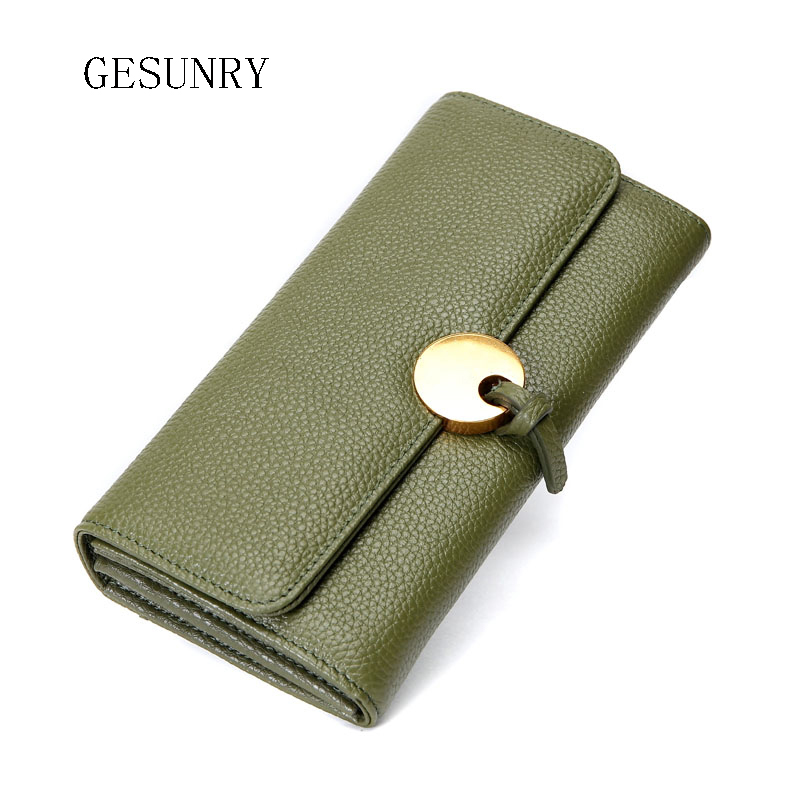 ФОТО  Genuine leather wallet for women wallets brands purse dollar price new designer purses card holder coin bag phone bag female