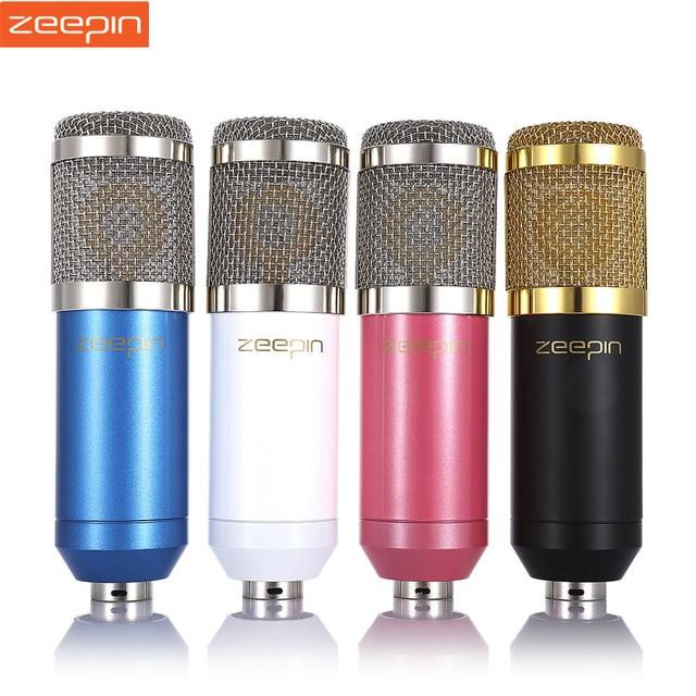 ZEEPIN BM 800 Dinamik Kondenser Kablolu Kayıt Mikrofon Ses Stüdyosu Kayıt için Şok Montaj Kiti ile KTV Karaoke