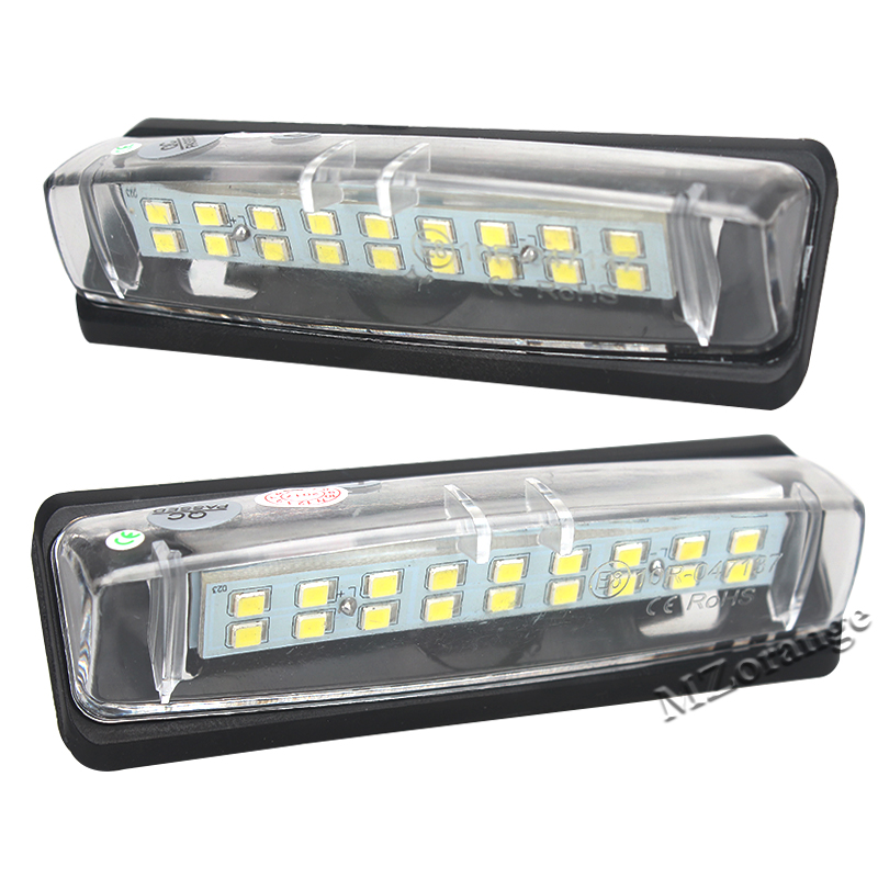 Error Free 18SMD LED License Plate Light Number Plate Lamp For Mitsubishi Colt Plus Grandis 2003~ Pure White High Brighness hopstyling 2x error free 18smd for benz smart fortwo led license plate light car led number license plate lamp auto lighting