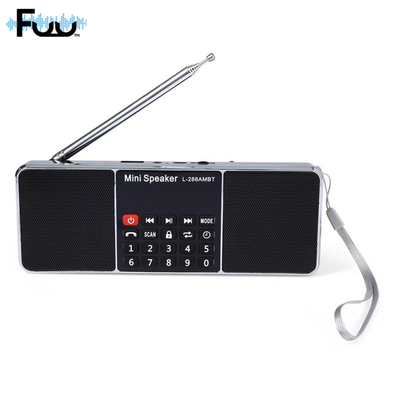 L-288 Portable Wireless Speaker Support AM Radio FM Radio Elderly People Happiness Concomitant Dual Speaker Subwoofer MP3 Player