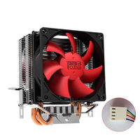 Pccooler S93M CPU Cooler 2 Pure Copper Heatpipes 90mm 4 PWM Quiet 12V Fan For Intel