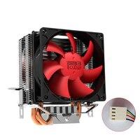 Pccooler S93M CPU Cooler 2 Pure Copper Heatpipes 90mm 4 PWM Quiet 12V Fan For Intel