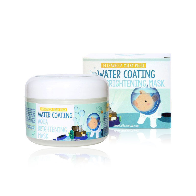 Korea Cosmetic ELIZAVECCA Milky Piggy Water Coating Aqua Brightening Mask 100g Face Skin Care Moisturizing Whitening Facial Mask secret key snow white milky pack 200g korea face mask moisturizing skin whitening anti aging facial mask beauty