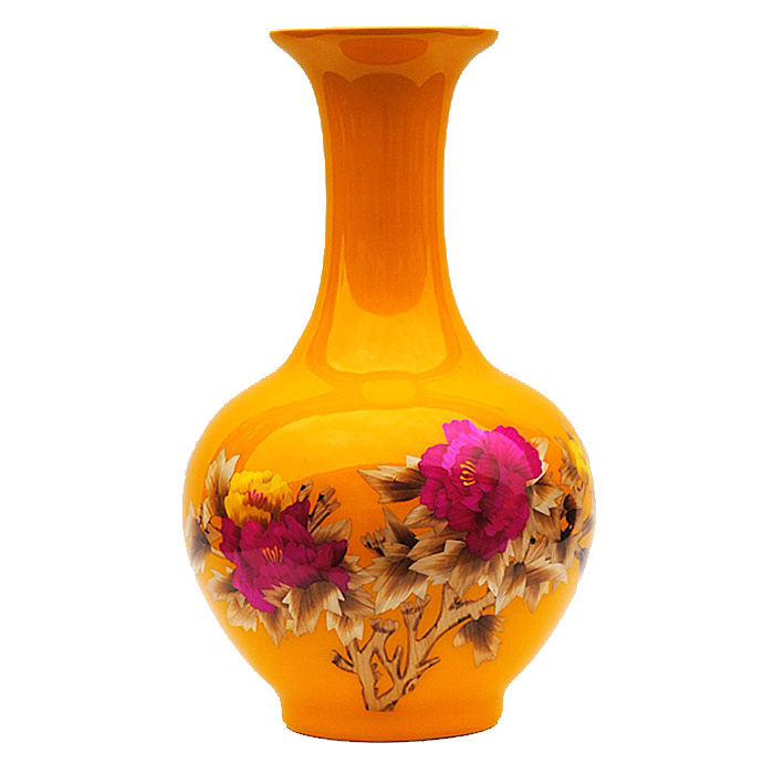 Wedding Gift Vase: Jingdezhen Hongxuan Ceramics Glaze Vase Chinese Peony