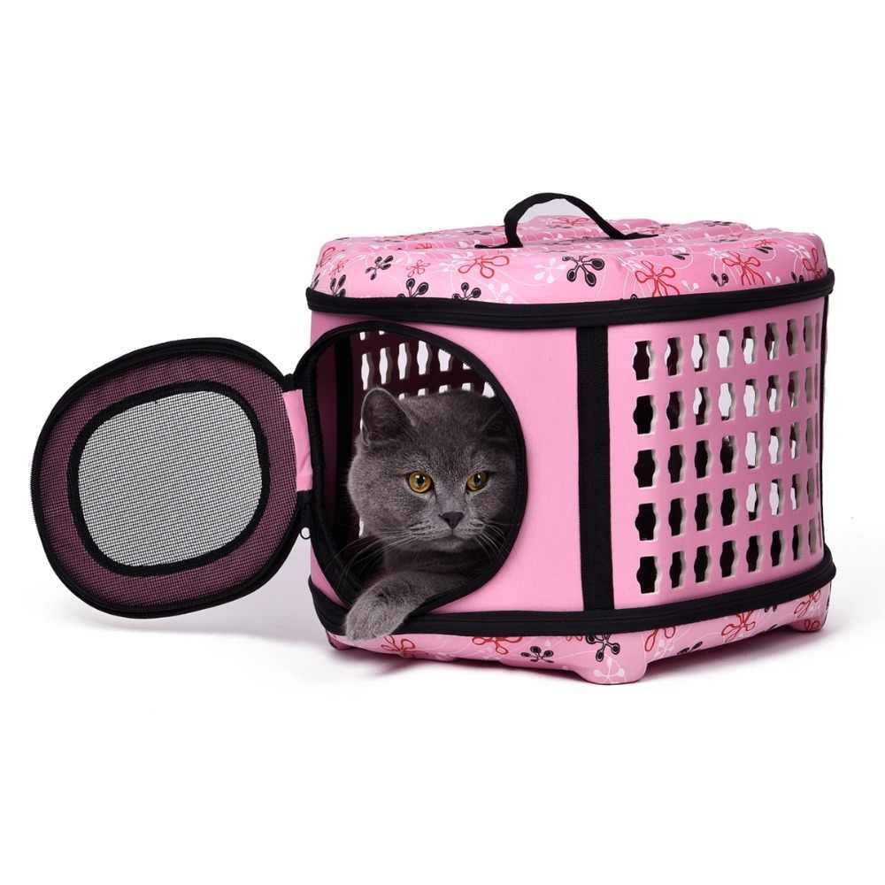 ספקי כלב לחיות מחמד באיכות הי Carrier מתקפל בית כלב תיק נייד תיקי נסיעות חבילה לנשימה עבור חיות מחמד עבור כלב חתול