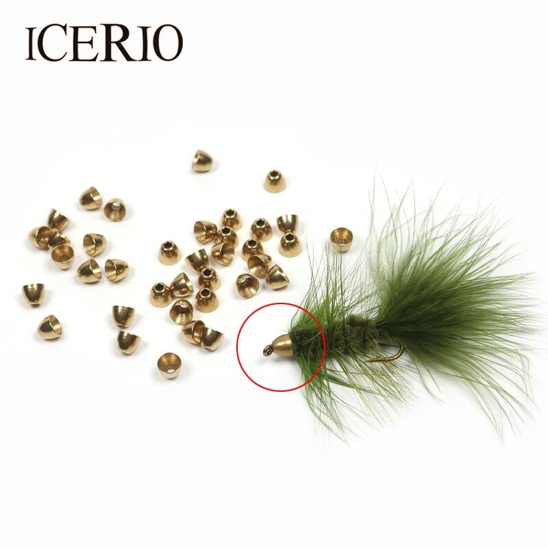 все цены на ICERIO 100PCS Brass Fly Tying Cone Heads (7/32