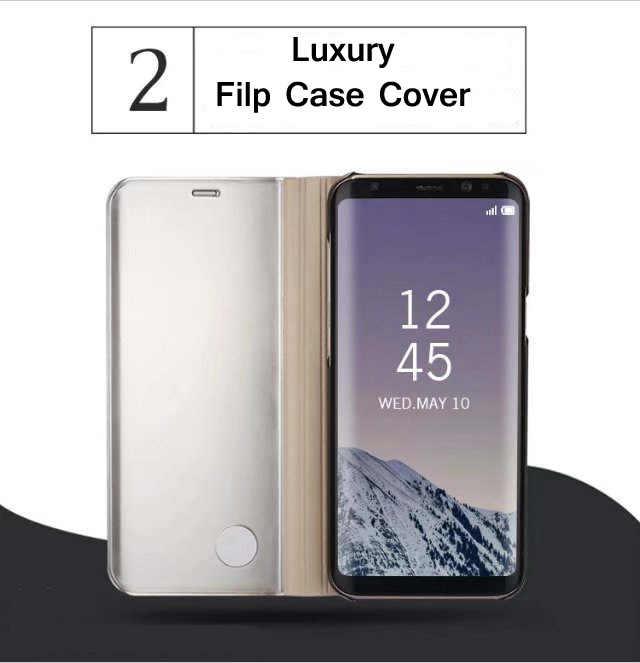 hot sales 06b1d 8d115 Original Mirror Flip Case For Galaxy S8 Plus Case Clear View Smart Cover  For Samsung Galaxy S6 Edge Plus S7edge A3 A5 A7 Case