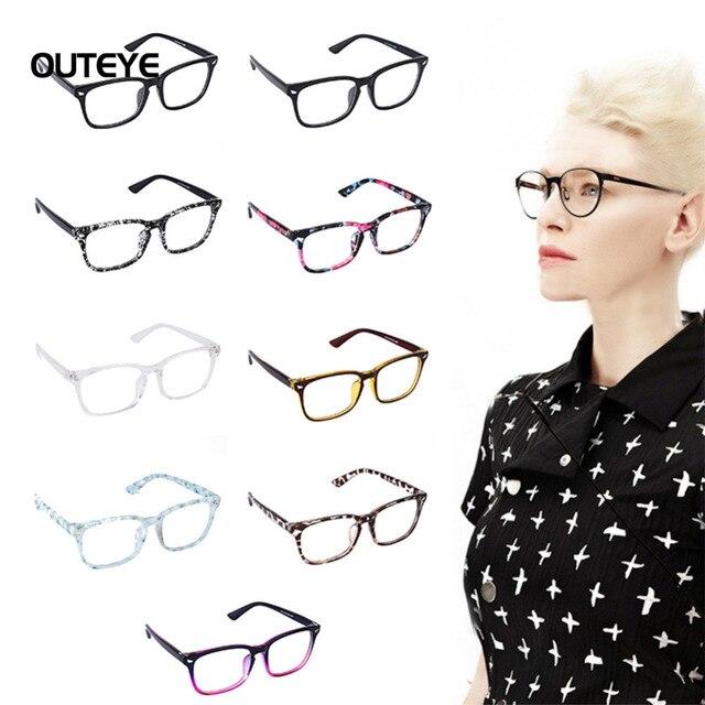 54e4f7b9f1 OUTEYE 9Color Hot optical myopia glasses clear lens eyewear nerd geek  glasses frame sun shade eyeglasses frames for men women W1