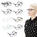 Outeye 9 Color caliente miopía óptica gafas lente transparente gafas nerd geek gafas de sol sombra marcos para hombres mujeres W1
