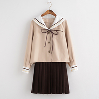 Japanese Classical Long sleeved Sailor Uniforms Japan High School JK Pleated Skirt School Girls' Set Uniform S/M/L/XL/XXL
