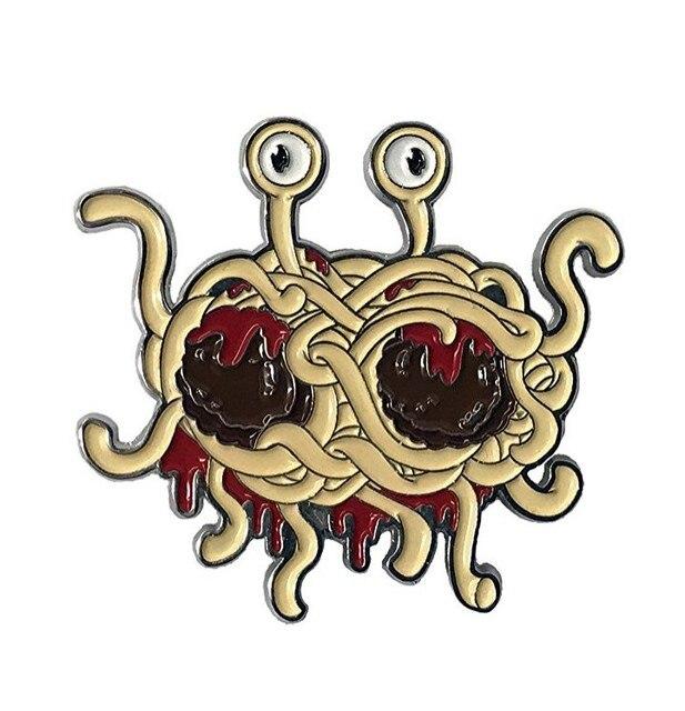 Летающий Монстр спагетти FSM эмаль контактный pastafarian Ramen забавные чутье брошь