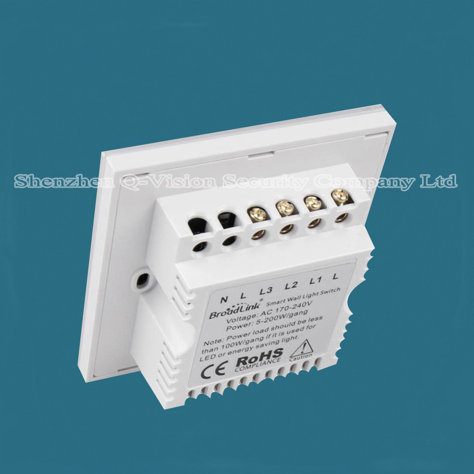 1-UK Standard Broadlink TC2  2 Gang Wireless Remote Control Wifi Wall Light Touch Screen Switch Smart Home 110V-240V RF433  RM PRO