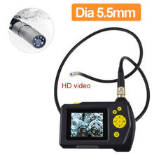 Blueskysea NTS100 Endoscope 5.5mm Borescope Auto Repair Tool Snake Inspection Camera DVR 3 Meter Tube Cable Industrial