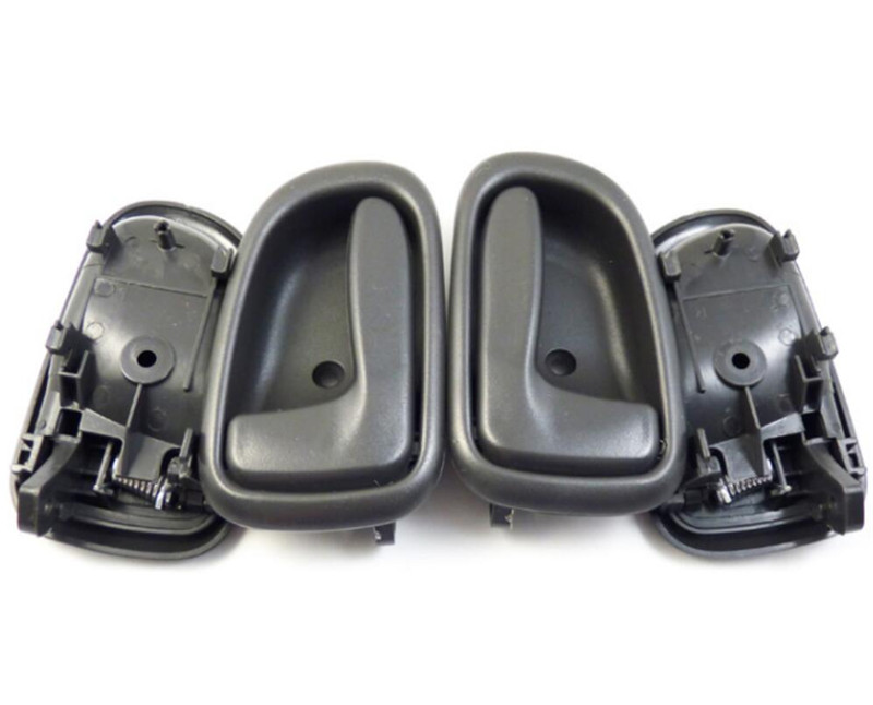 2Pcs Door Handles for 93-97 Corolla Prizm Black Inside Front or Rear Right /&Left