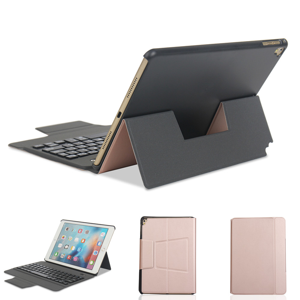 Ultra thin Removable Bluetooth Keyboard Kickstand Case For iPad Air Air 2 iPad Pro 9.7