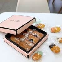 Pink color Cake sugar paper box with black edge,candy biscuit box,snacks Packaging gift square Boxes 100pcs/lot