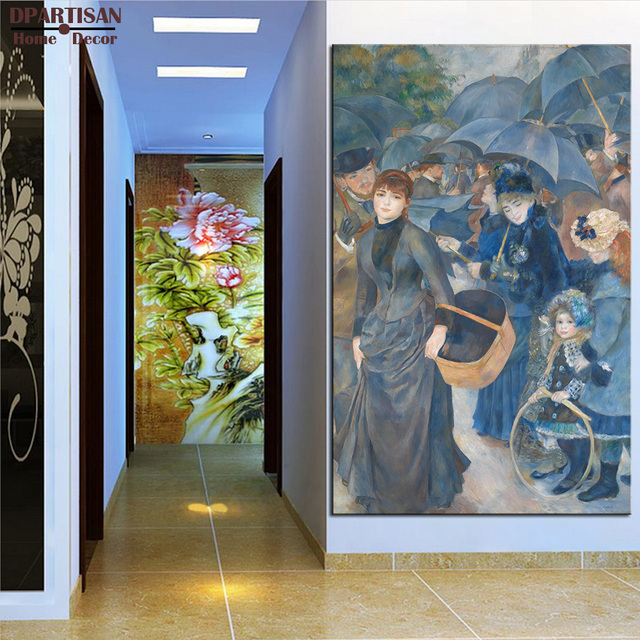 DPARTISAN Pierre Auguste Renoir The Umbrellas Giclee wall Art Canvas ...