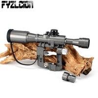 Тактический 6X36 1 красной подсветкой Прицел Снайпера съемки тактика оптические направленные АК винтовка Охота