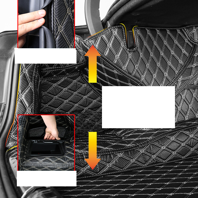 Lsrtw2017 5D Carbon Fiber PVC Car Trunk Anti dirty Mat for Bmw X5 2018 2019 2020 in Interior Mouldings from Automobiles Motorcycles