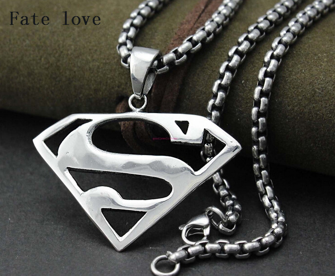 Fate Love High Quality Superman Necklace Stainless Steel