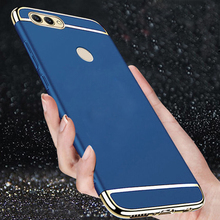 Y7 Pro 2018 Cases For Huawei Prime Case 3in1 Plating Hard Matte Back Cover Nova2 Lite Phone 5.99 inch
