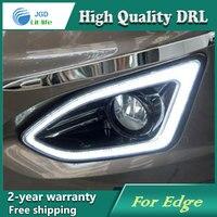 Free Shipping 12V 6000k LED DRL Daytime Running Light Case For Ford Edge 2015 2016 Fog