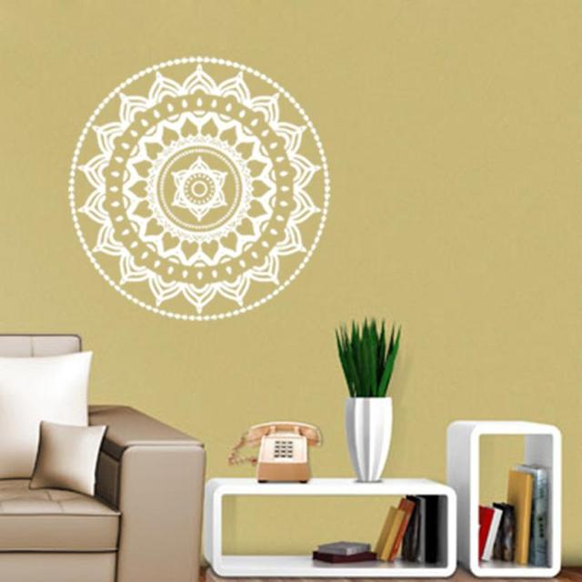 modern mandala flower indian bedroom wall decal art stickers mural