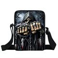 Street Rock Skull Messenger Bag Punk Men Women Handbags Children School Bags Boys Girls Shoulder Bag For Snack Kids Cross Bags