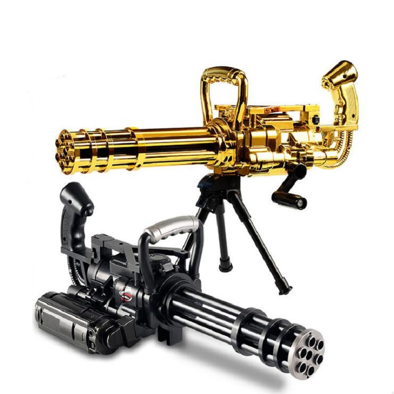 Manual series Gatling gun soft eva bullets gun Water bullets toy gun simulation model of children play outdoors live CS toy gift