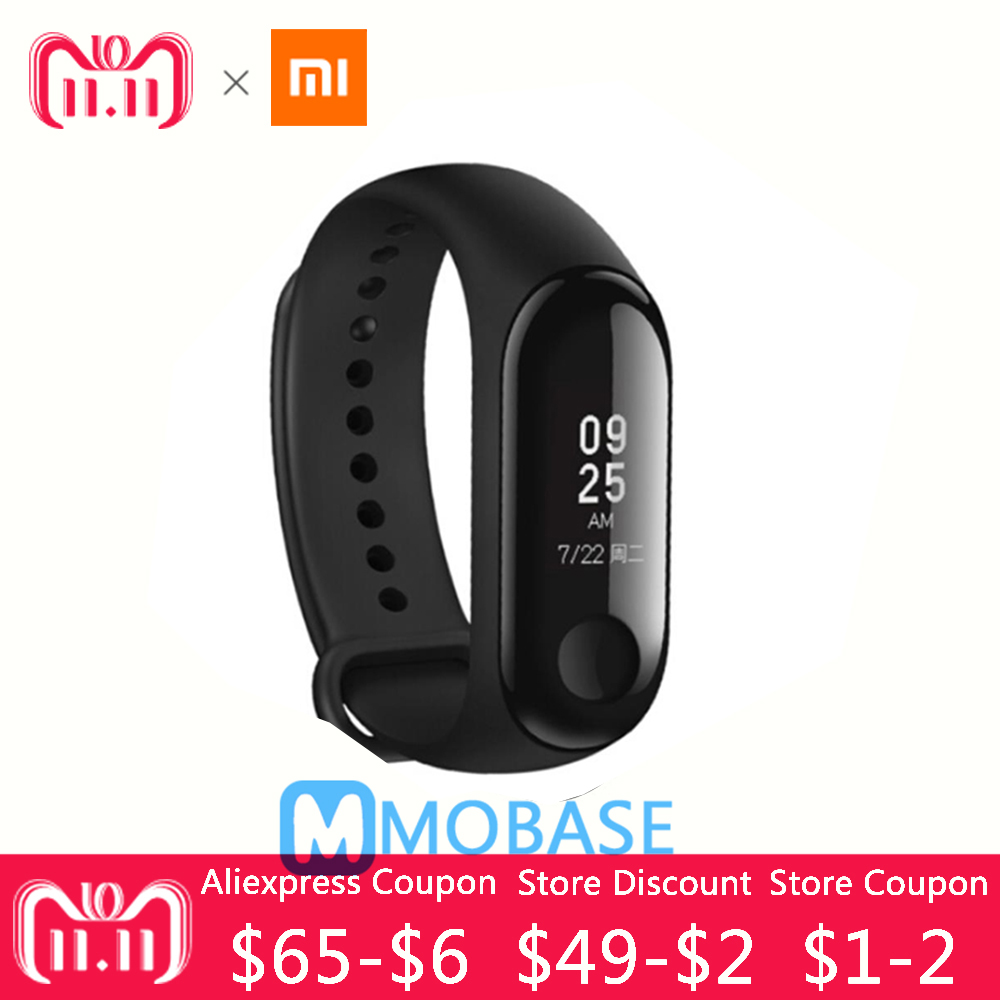 New Original Xiaomi mi band 3 Pedometer 5TAM heart rate monitor 2 5D glass screen 20